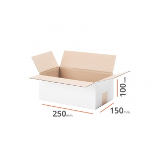 White cardboard box 250x150x100mm - 20 pcs