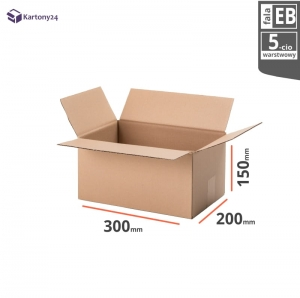 Cardboard box 300x200x150 - 10pcs.- double wall
