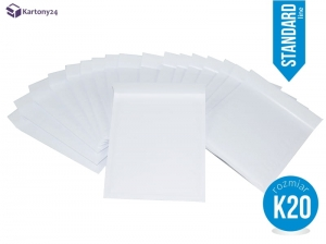 White bubble padded envelopes K20 50pcs., Standard