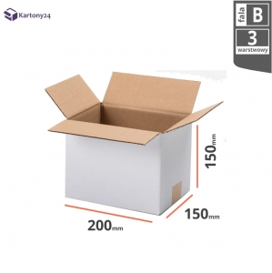 White cardboard box 200x150x150mm - 20 pcs.