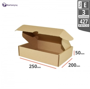 Postal cardboard box 250x200x50mm - 40 pcs.