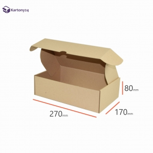 Postal cardboard box 250x200x50mm - 40 pcs. (1)
