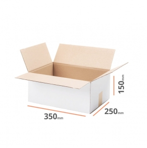 White cardboard box 350x250x150mm - 20 pcs