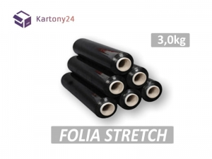 folia stretch 3kg czarna
