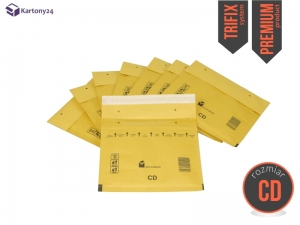 Brown bubble padded envelopes CD, 100 pcs. Premium