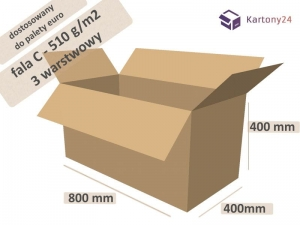 Cardboard box 800x400x400mm - 10 pcs. - external dim.  (1)
