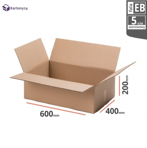 Cardboard box 600x400x200mm - 10 pcs. - double wall - external dim.