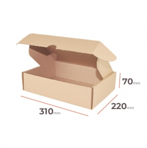 Postal cardboard box 310x220x70mm - 40 pcs