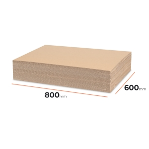 Cardboard divider (sheet) 800x600mm - 60 pcs