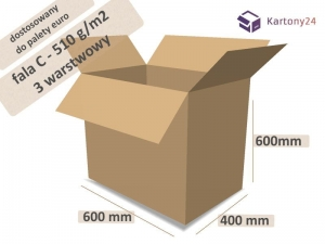 Cardboard box 600x400x600mm - 10 pcs. - external dim.  (1)