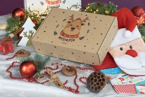 Christmas box 350x250x90 happy reindeer - 20 PCS