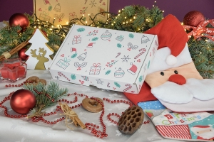 Christmas box white 310x220x55 mix - 20 PCS