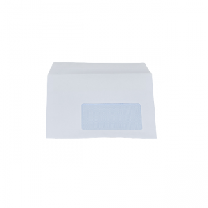 C6 White Window Self Seal Envelopes - 1000 pcs