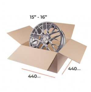 "Cardboard boxes for rims 15""-16"" inch - 4 pcs"