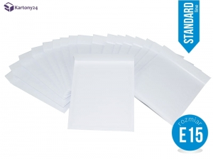 White bubble padded envelopes E15 100pcs., Standard