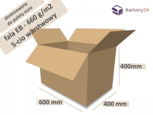 Cardboard box 600x400x400mm - 10 pcs. - double wall - external dim.  (1)