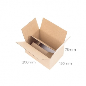 Auto-bottom cardboard box 200x150x75 - 10 pcs