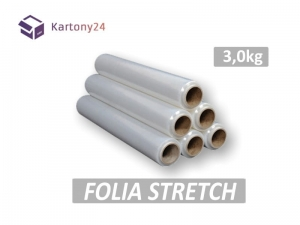 folia stretch 3kg transparent