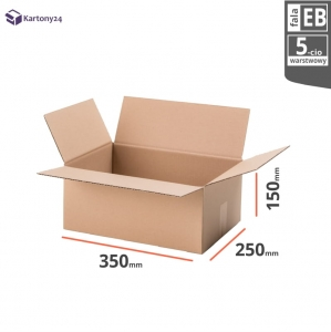 Cardboard box 350x250x150 - 10pcs.- double wall