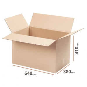 Cardboard box 640x380x410 for packstation - 10 pcs