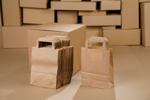 Paper bags brown 180x85x230 - 50 pcs