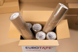 Adhesive tape 40yd - brown - 6pcs.  (1)