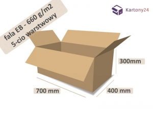 Cardboard box 700x400x300mm - 10 pcs. - double wall - external dim.  (1)