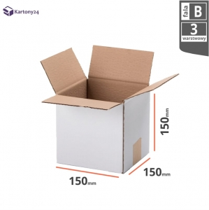 White cardboard box 150x150x150mm - 20 pcs.