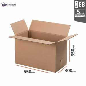 Cardboard box 550x300x350mm - 10 pcs. - double wall