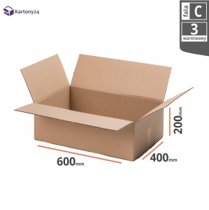 Cardboard box 600x400x200mm (external dimension)- 10 pcs.