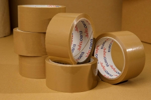 Adhesive tape 60yd - brown - 6pcs.