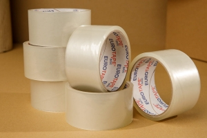 Adhesive tape 40yd - transparent - 6pcs.