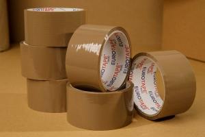 Adhesive tape 40yd - brown - 6pcs.