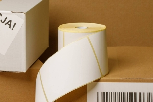 Thermal label in a roll 100x150mm - 500 pcs