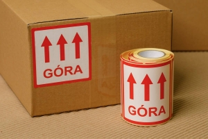 "Self-adhesive label ""Góra"""