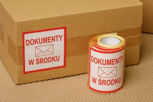 "Self-adhesive label ""Dokumenty"""