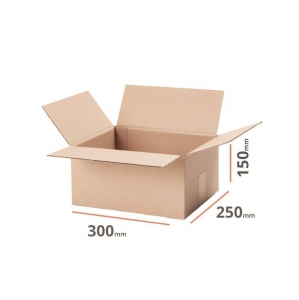Cardboard box 300x250x150mm (external dimension) - 20 pcs