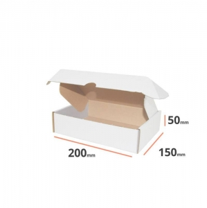 White postal cardboard box 200x150x50mm - 40 pcs