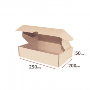 Postal cardboard box 250x200x50mm - 40 pcs