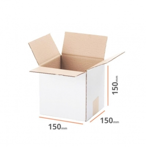 White cardboard box 150x150x150mm - 20 pcs