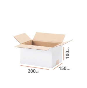 White cardboard box 200x150x100mm - 20 pcs