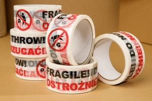 "Printed Packaging Tape ""OSTROŻNIE"" - 6 pcs"