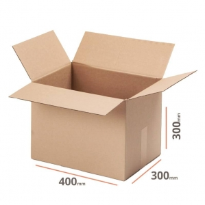 Cardboard box 400x300x300mm  double wall (external dim.) - 10 pcs