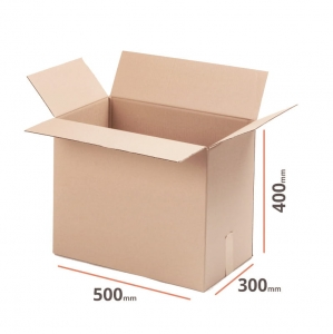 Cardboard box 500x300x400mm double wall - 10 pcs