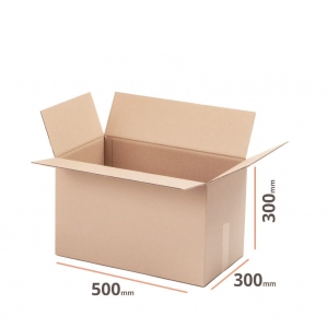Cardboard box 500x300x300 double wall - 10 pcs