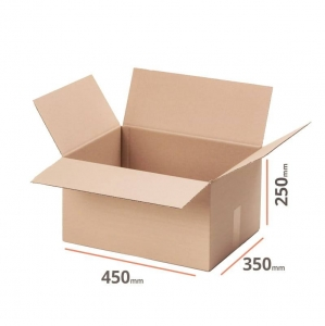 Cardboard box 450x350x250mm (external dimension) - 20 pcs