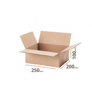 Cardboard box 250x200x100mm (external dimension) - 20 pcs