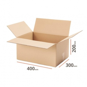 Cardboard box 400x300x200 double wall - 10 pcs