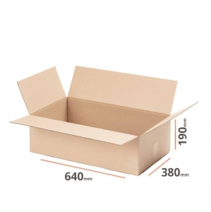Cardboard box 640x380x190 for packstation - 20 pcs