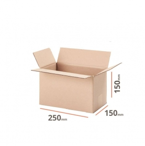 Cardboard box 250x150x150 double wall - 10 pcs